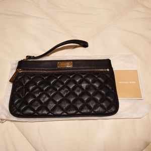 Michael Kors quilted clutch/wristlet